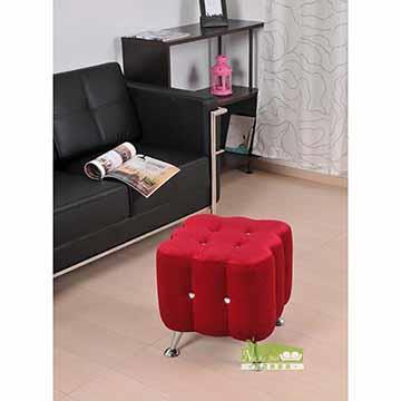 【-耐克美】-馬蒂水鑽單人沙發椅/客椅/穿鞋椅