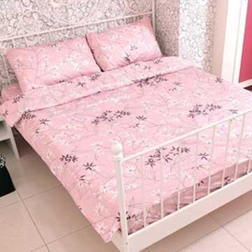 【米夢家居】100%台灣製精梳純棉-葉之戀床包三件組(5尺)