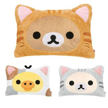 San-X Rilakkuma拉拉熊貓咪變裝毛絨睡枕(單人)。三款可選
