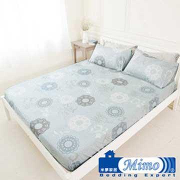 【米夢家居】台灣製造-100%精梳純棉雙人床包三件組(巴洛克-灰)