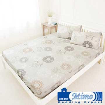 【米夢家居】台灣製造-100%精梳純棉雙人床包三件組(巴洛克-米)