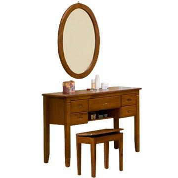 YoStyle 亞倫實木化妝桌椅組