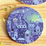 afu插畫陶瓷吸水杯墊《單純的星夜》
