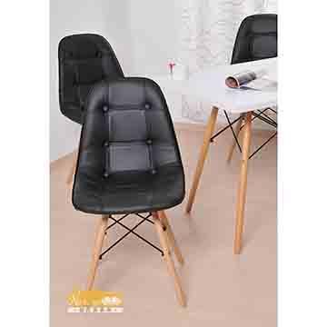 【耐克美】薇蘿拉Valora-鈕扣木腳造型椅