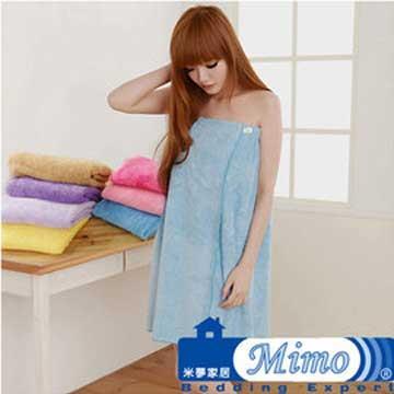 《米夢家居》台灣製造水乾乾SUMEASY開纖吸水紗-泳池泡湯必備浴裙(淺藍)