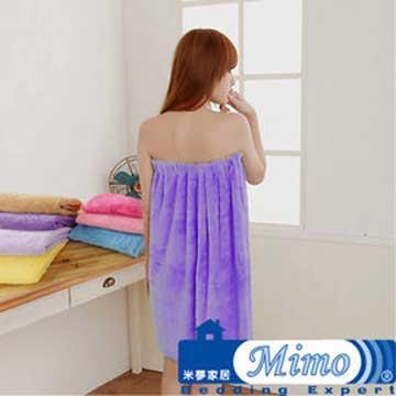 《米夢家居》台灣製造水乾乾SUMEASY開纖吸水紗-泳池泡湯必備浴裙(深紫)