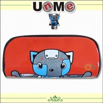 【UnMe機器人】亮面式筆袋/ 紅色
