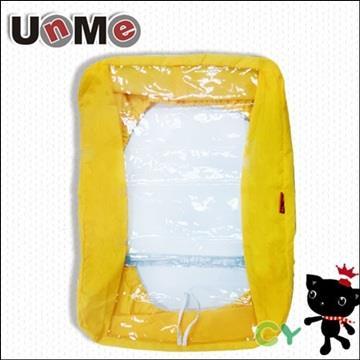 【UnMe】後背專用書包雨衣/黃色