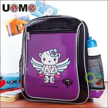 【UnMe機器人】造型輕量後背書包/紫色