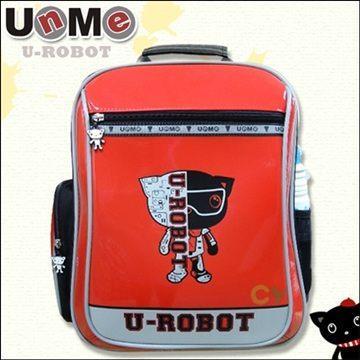 【UnMe機器人】直率雙層系後背書包/紅色