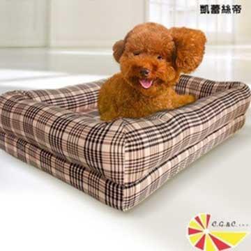 【凱蕾絲帝】太空記憶寵物時尚床墊-特大型犬專用 120**60**5CM-英倫粉格