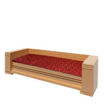 【凱蕾絲帝】木椅通用 高支撐記憶聚合(如意紅)薄坐墊(3人專用)-不含木椅