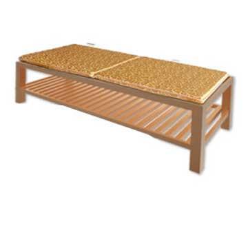 【凱蕾絲帝】木椅通用 高支撐記憶聚合(如意紅)薄坐墊(2人專用)-不含木椅