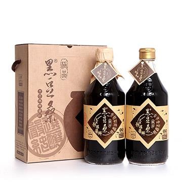 【黑豆桑】雙醬禮盒組(金豆醬油x1+缸底醬油x1)