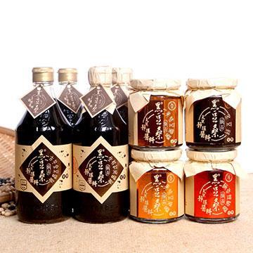 【黑豆桑】美味沾料組(金豆醬油x2+缸底醬油x2+豆瓣醬x2+辣椒醬x1+黑豆豉x1)