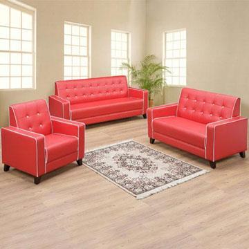 YoStyle 時尚經典沙發組(1+2+3)-紅色