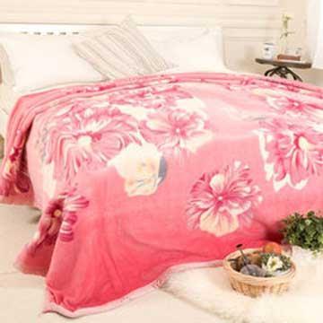 【米夢家居】鳴球100%澳洲美麗諾拉舍爾 純羊毛毯(200**230CM)-粉頰扶桑