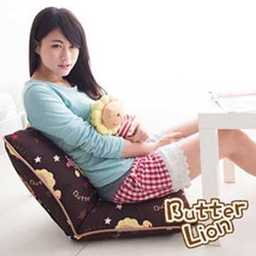 【奶油獅】正版授權 台灣製造-和室房必購-可拆洗搖滾星星胖胖和室椅-咖啡