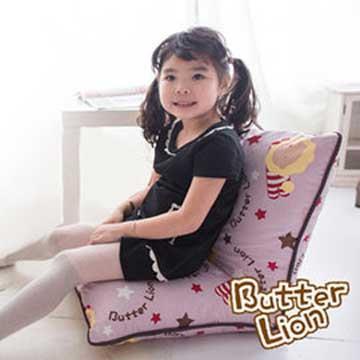 【奶油獅】正版授權 台灣製造-和室房必購-可拆洗搖滾星星胖胖和室椅-淡紫
