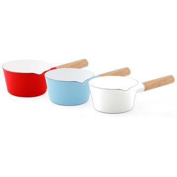 SADOMAIN仙德曼琺瑯單柄牛奶鍋-15cm x 1入