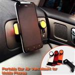 3.5吋~6.3吋 360度汽車冷氣口 導航架車上固定架/手機支架