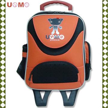 【UnMe】微笑可拆式拉桿後背兩用書包/磚紅