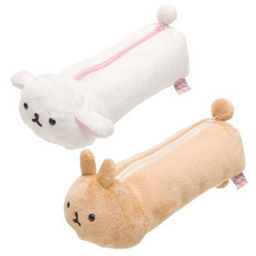 San-X 麻糬兔毛絨筆袋。2種可選