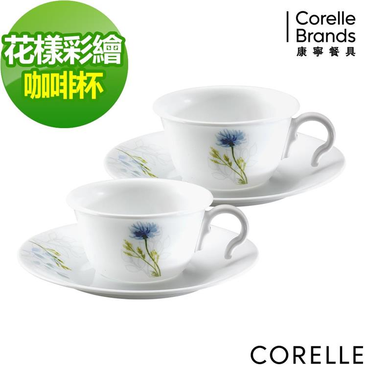 【CORELLE】康寧花漾彩繪4件式咖啡杯組 CRE-DSF-D04