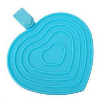 《天使心》 多功能矽膠隔熱墊 (海洋藍)