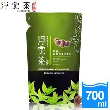 【茶寶 淨覺茶】茶籽蔬果碗盤洗潔液補充包(700ml)