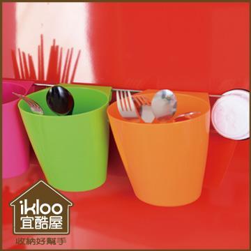 【ikloo】炫彩吸盤掛杯式置物架