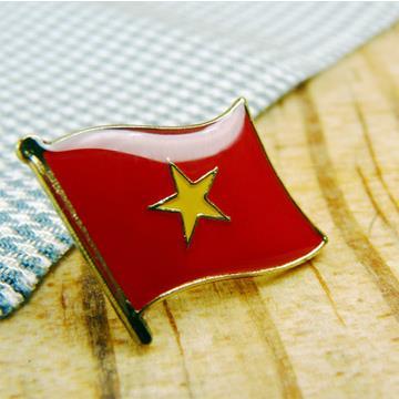 【國旗商品創意館】越南Vietnam徽章4入組/胸章/別針