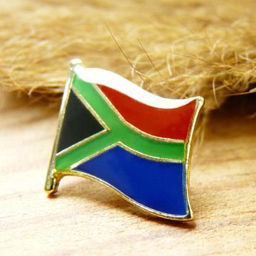 【國旗商品創意館】南非South Africa徽章4入組/胸章/別針