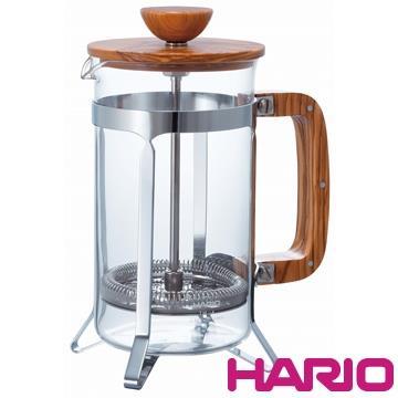 HARIO 橄欖木濾壓咖啡壺600ml CPSW-4-OV