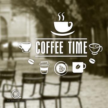 Christine咖啡時光貼 / 店面、公共場所櫥窗佈置 / 防水貼紙 CFT007咖啡一杯杯