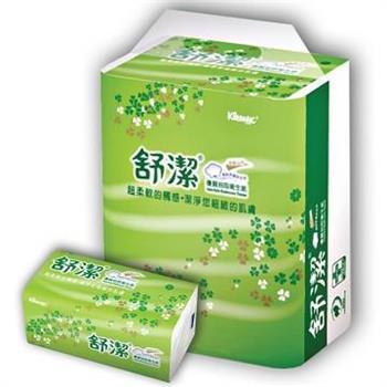 舒潔 抽取式衛生紙-110抽x12入x6袋/箱