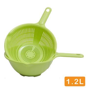 日本製造 附把洗物籃組(顏色隨機出貨)SAN-D5422