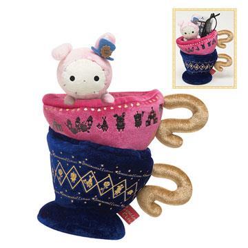 San-x 憂傷馬戲團愛麗絲夢遊仙境多用途毛絨收納杯