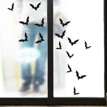 Christine萬聖節慶佈置/玻璃貼/WS011蝙蝠大軍