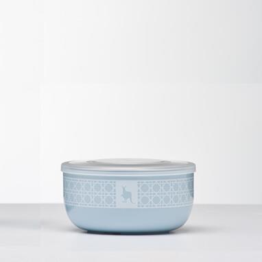 Kangovou小袋鼠不鏽鋼安全點心碗-野莓藍