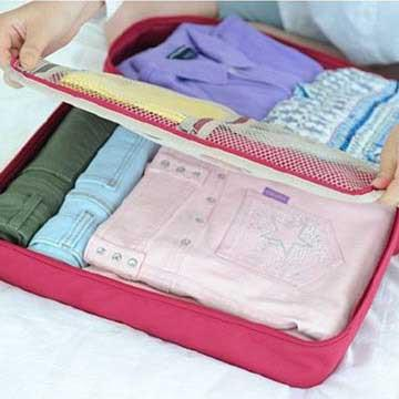 DINIWELL 新版手提衣物旅行整理收納包-L號(藍色)