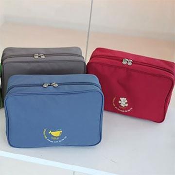DINIWELL 新版手提折疊化妝包-L號(藍色)