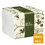 優活 單抽式柔拭紙巾(300抽x60包/箱)