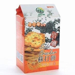 【陽光生機】 黑芝麻全素岩鹽蘇打餅(216g)/12小包36片