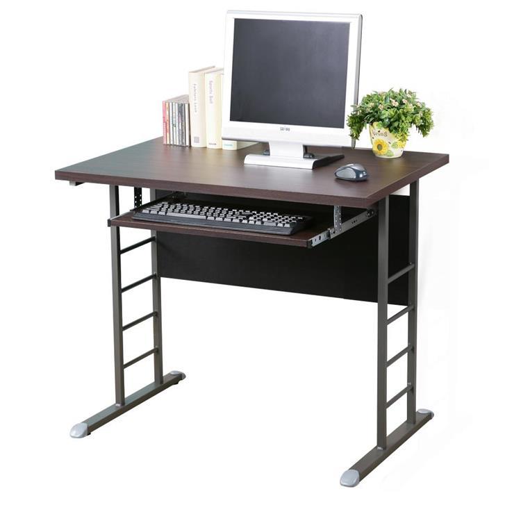 YoStyle 馬克80cm辦公桌-加厚桌面-附鍵盤架(四款任選)