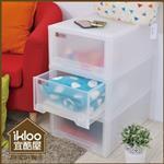 【ikloo】簡約多功能抽屜整理箱(30L)