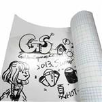 【台灣製造】白板紙 無痕自黏式壁貼書寫/適用白板筆 (150X45CM)
