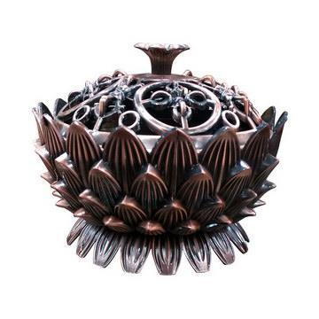 蓮花金剛杵造型煙供香爐-亮銅色