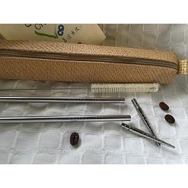 【QC館】台灣首創製作-鈦筷子頭+SUS316L不鏽鋼吸管/環保吸管(組合系列)