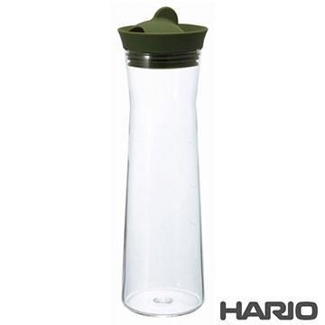 日本製造HARIO 矽膠玻璃冷水瓶冷水壺-紅綠隨機1000ML(HAR-WJ-10)